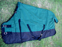 HORSE Turnout WINTER BLANKET 1200D Green 76