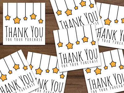 Thank You For Your Purchase 5-star Ebay Shipping Labels Stickers Personalized