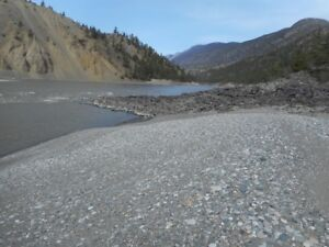 Placer gold claim on Fraser river north of Lytton