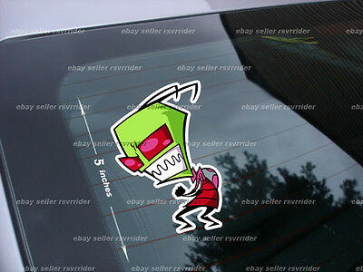 angry invader zim cartoon decal sticker *free ship