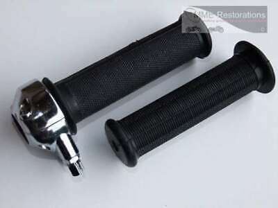 78 THROTTLE TWIST GRIP SET COMPLETE WITH GRIPS UNIVERSAL BSA AJS TRIU