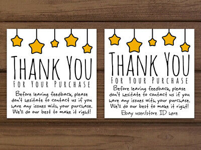 Thank You For Your Purchase Gold Star Ebay Seller Business Cards Personalized