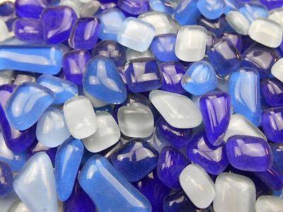 Unregelmäßige Mosaikstene lose zum Basteln Polygonal Blau Mix