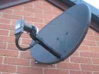 Satellite and aerial installations wall mount brackets and cc tv systems