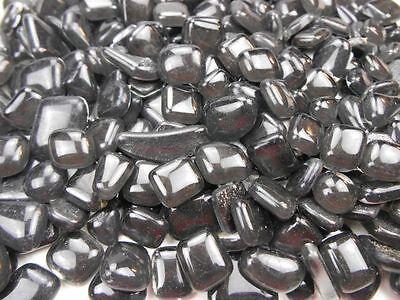 Unregelmäßige Mosaiksteine lose zum Basteln Polygonal Schwarz 500g Softglas