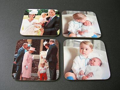 Duke and Duchess of Cambridge Prince George Princess Charlotte COASTER SET