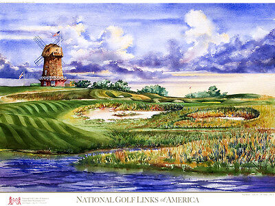 National Golf Links of America Limited Edition Golf Art Print Signed