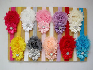 10PCS Kids Girls Baby Toddler Infant Flower Headband Hair Bow Band Accessories