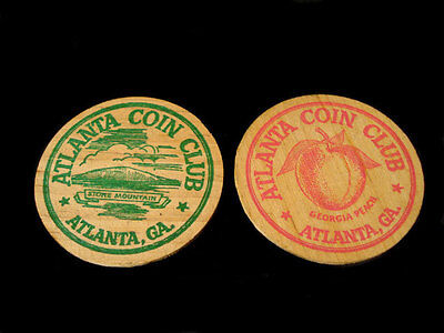 1929-1954 25TH ANNIVERSARY WOODEN NICKELS ATLANTA COIN CLUB
