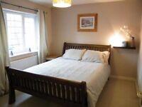 Oak kingsize bed and matress