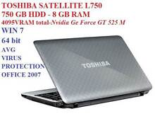 i7-3.10 GHz turbo TOSHIBA L750/750 GB HDD/8 GB RAM/4095VRAM total Colyton Penrith Area Preview