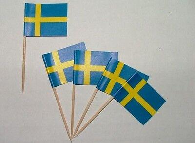 Flaggen Zahnstocher Schweden Fahne Flagge Minipicker Partyzahnstocher
