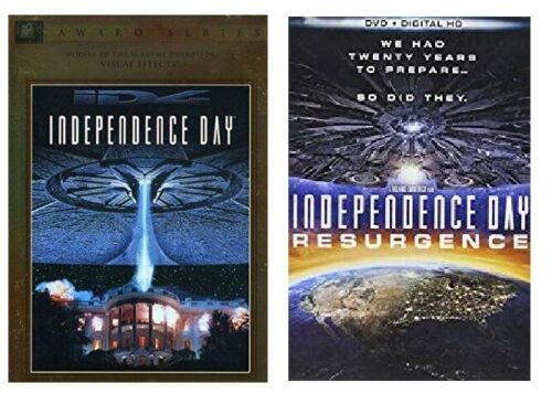 INDEPENDENCE DAY 1 ONE 2 TWO RESURGENCE + DIGITAL HD (DVD) - NEW!!