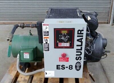 Sullair Es-8 20hp Screw Air Compressor 76 Cfm 125 Psi Fully Serviced Tested