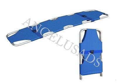 Medical Emergency Folding Portable Stretcher Aluminum Alloy Mobile Sport Mayday