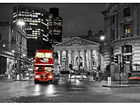 Poster / Canvas Wall Art - LONDON - RED BUS UNITED KINGDOM UK - 28x40'' (70x100cm) - Canvas
