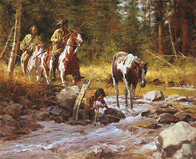 Howard Terpning NECTAR OF THE GODS, Native American, giclee canvas L@@K!