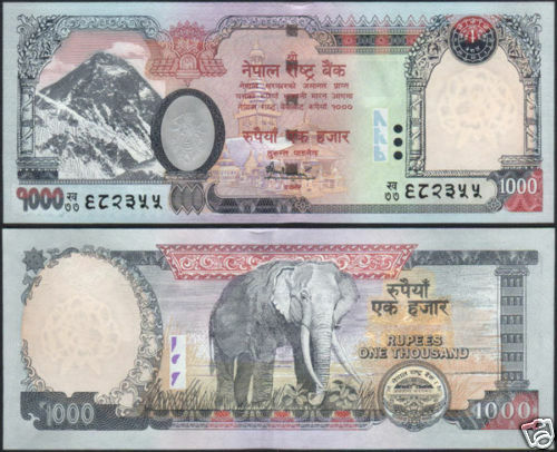 NEPAL 2010 EVEREST Rs.1000 BANKNOTE w/out  FLOWER PRINTED, P-68a, sign-16 UNC