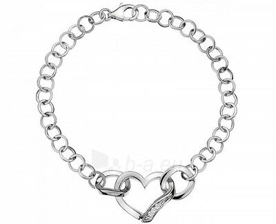 DL265 NEW Genuine Hot Diamonds Sterling Silver Heart Links Bracelet £119.95 - Hot Diamonds Heart Bracelet