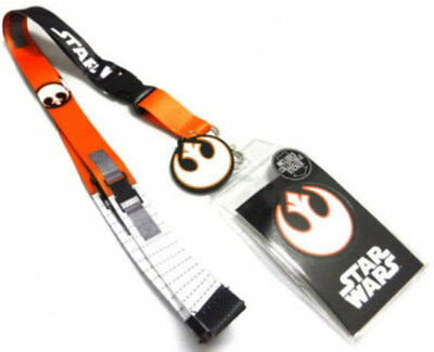 Licensed Star Wars Rebel Pilot Costume Lanyard w/ ID Badge Holder & Charm New - Star Wars Rebel Pilot Costume