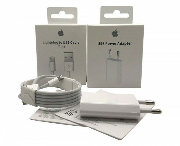 Original Apple Lightning 1M Ladekabel 5W Adapter für iPhone iPad iPod NEU