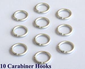 10 Farbe Silber Rund Karabiner Haken Verbinder Karabinerhaken Neu