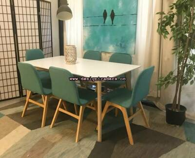 Brand New Ex Demo Scandi Style 6 Seat Dining Table