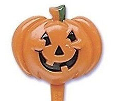 12 Pumpkin Cupcake Pick Halloween  Jack o Lantern Orange Seeds ()