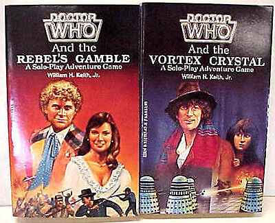 Doctor Who Rebels Gamble/Vortex Chrystal FASA Role Playing Books- FREE S&H