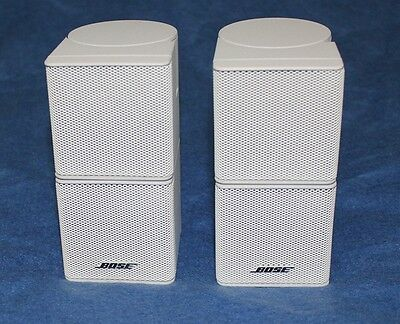 Used, 2 Bose Lifestyle 20/25/30/38/48/V35 JEWEL DOUBLE CUBE SPEAKERS-White-One Pair  for sale  Mission Viejo