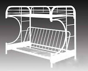 White Metal Futon Bunk Bed