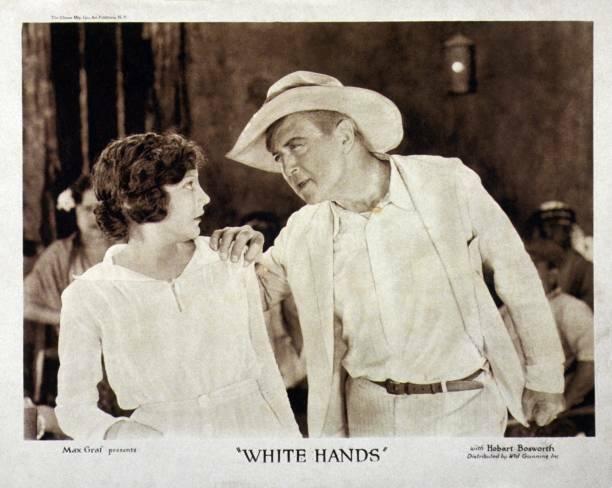 OLD MOVIE PHOTO White Hands Us Lobby card, Elinor Fair Hobart Bosworth 1922
