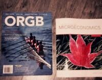 MICROECONOMICS AND ORG. BEHAVIOUR BOOKS FOR SALE (NBCC 2nd term)
