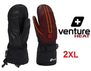 NEW VENTURE BATTERY HEATED MITTENS 2XL VentureHeat Black Touch screen capable - HEATED GLOVES OUTDOOR 102859405