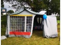 Raclet Trailer Tent with awning - ready to use