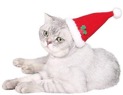 Haustier Junge Mädchen Hund Katze Weihnachten Weihnachtsmann Kostüm Kleid - Junge Hunde Kostüm