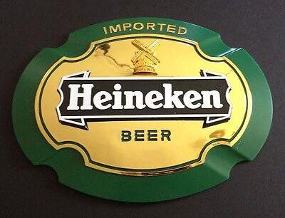 """Heineken Beer Signs - """"Imported Heineken Beer"""" - NOS - Wall Bar Man Cave"""