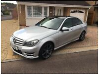 Mercedes C Class C180 AMG Sport Blue Efficiency