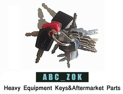 16 Keys Heavy Equipment Construction Key Set For Jd Case New Hollandcat