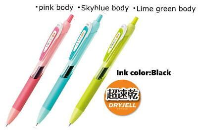 Zebra Sarasa Dry Gel Ink Pen Black Ink Jj31 0.5mm Fine 3 Pens Per Pack