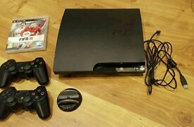 Sony PS3 console 120gb with 2 x Dual shock controllers