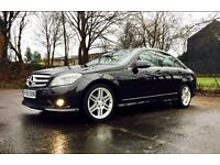 MERSCEDES C CLASS 2.1 C220 CDI AMG Sport 7G-Tronic Plus 4dr,BLACK,GREAY LEATHER,MOT, FSH, TAX,1OWNER