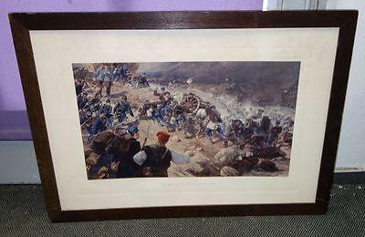 alte Grafik Gefecht Bosnien 1878 Farbenlichtdruck