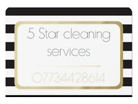 5 Star cleaning services offers Domestic/ Commercial/ End of tenancy cleaning