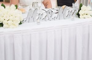 Wedding table Mr & Mrs wooden sign Metford Maitland Area Preview