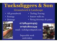 Tucksdiggers & Son. Groundwork & Landscaping Company
