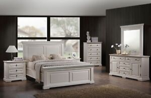Beautiful Brand New White Bedroom Suite