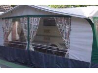 Caravan awning. NR Sterling awning for 18' caravan.