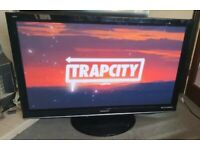 """Panasonic Viera 42"""" Plasma Full Hd Slimline Tv Built In Freeview Remote & Stand Excellent Condition"""