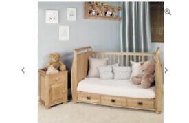 !! BRAND NEW JAYDEN OAK COT BED WITH 3 STORAGE DRAWS!! FRESH STILL IN BOX GOOD PRICE